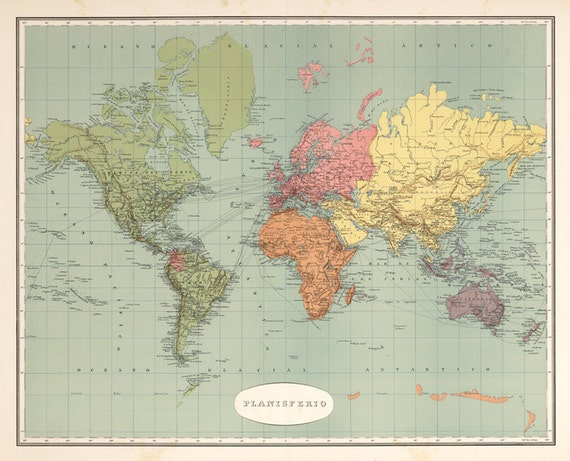World map printable digital downloadntage world map old world vintage world map old world map vintage art image instant digital downloadintable mapp digital from antiquedigitalprint on etsy studio gumiabroncs Gallery