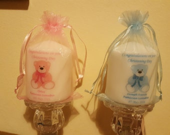 Godparent thank you candle or christening gift for child
