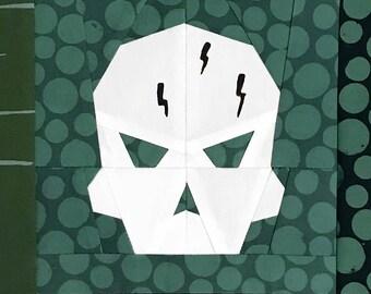 Seeker Skull Paper Piecing Pattern - PDF format