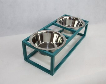 Modern Pet Feeder - Elevated Dog Bowl, Modern Cat Bowl, Double Wire Feeding Stand, Rised Pet Feeder, Modern Disign,