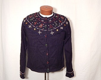 UGLY CHRISTMAs SWEATEr XL Extra Large Simple Snowflake Design