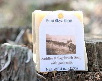 Saddles and Sagebrush Soap - Saddles and Sagebrush Goat Milk Soap - Handcrafted Saddles and Sagebrush Goat Milk Soap - Men's Soap