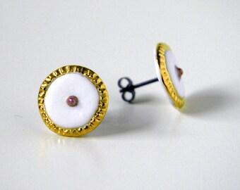 Bakewell Tart Stud Earrings