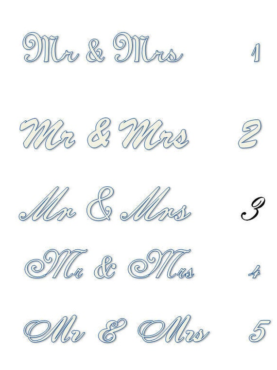 Uppercase Letters Large Wedding Letters Mr & Mrs Letters 3D