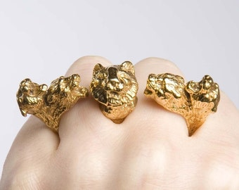 Beast Master Knuckle Duster in Gold
