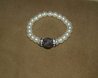 Pearls & Sparkle Stretch Bracelet