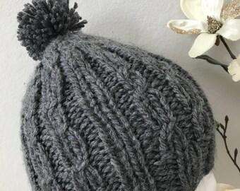 Knitted  Pom Pom Women's Winter Hat
