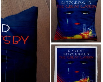 the great Gatsby Book Cover-Cushion Cover Case Or Stuffed With Insert