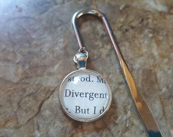 Divergent book page shepherd hook bookmark