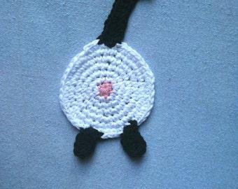 I Crochet Cotton Siamese Cat Butt Coaster Cat Lady Humor kitty clowder Siamese black tail socks paws