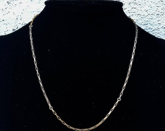 Ankh By Racquel mixed metal silver and gold checkerboard short chain necklace