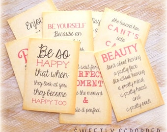 QUOTE Journal Cards, Pocket Letters, Journaling, Scrapbooking, Girl, Her, Believe