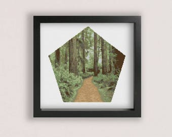 Forest Cross stitch Pattern PDF / Printable PDF Chart / Plants cross stitch / Trees Cross Stitch / Woods cross stitch / Bush Cross Stitch
