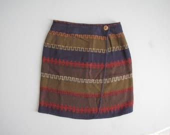 Vintage Southwest Wrap Skirt - Size 6