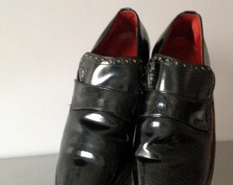 1950's / 60s French Shiner Men's Patent Leather Shoes