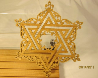 STAR of DAVID FANCY Hand Made Scroll Saw Piece