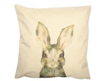 Canvas pillow. Decorative pillow. Printent pillow. cushion. Printed pillow cover. Accent throw pillow. Bunny pillow covers. Rabbit pillow