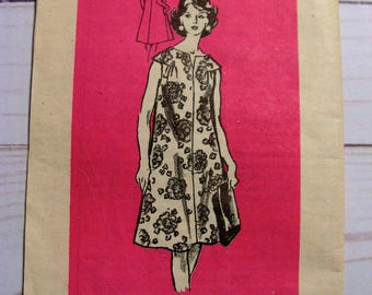 Misses Duster Housedress | Anne Adams 4861 | Misses 20 bust 42 | cut used complete vintage 1960's mail order sewing pattern