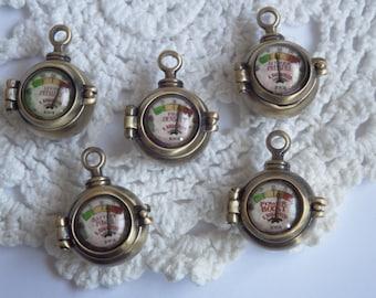 Steampunk Vintage Gauge Locket / Necklace