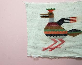 southbound -- ecuadorian handwoven bird motif wallhanging
