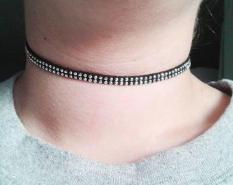 sale stud choker black studded necklace