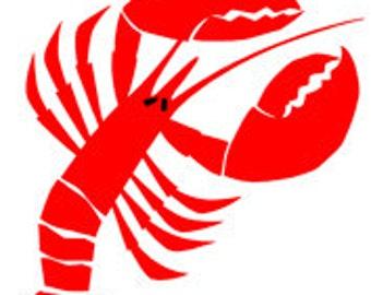 Lobster Food Fish Seafood - Digital Image - Vintage Art Illustration