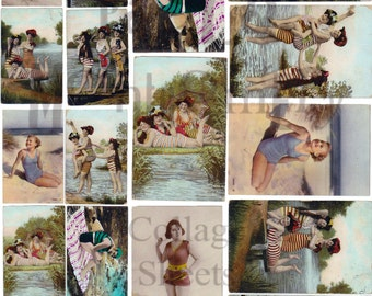 Bathing Beauties Number 1 Digital Download Collage Sheet