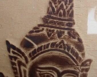 4 pcs. Thailand Temple Wood Block Print on Paper Of Goddess Musicians