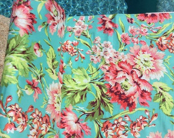 Amy Butler Bliss Bouquet Teal Color ~ Love Collection by Amy Butler, Cotton Quilt Fabric