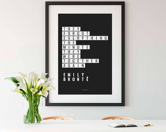 WUTHERING HEIGHTS, Wuthering Heights Quote, Emily Brontë, Wuthering Heights Print, Book Lover Gift, Literary Gift, Gift for Her