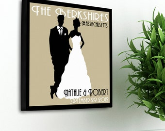 """Personalized Couples Studio Canvas Sign  -  Personalized Wedding Canvas Sign  - 14"""" x 24"""" -  GC897"""