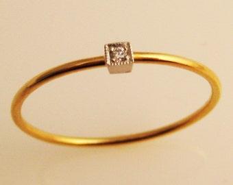 Venus, a Diamond Ring in 22K Gold and Platinum