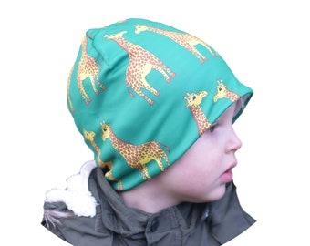 Green Giraffe Beanie Hat