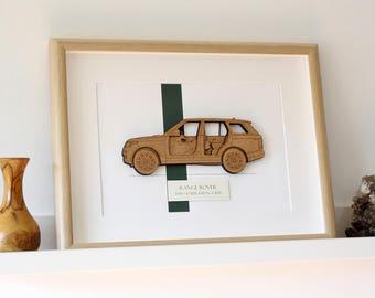 Range Rover Blueprint, Range Rover, Blueprint Wall Art, Laser Cut Wood, Range Rover Gift, Range Rover Decor, Blueprint Decor, 8x10 or A4