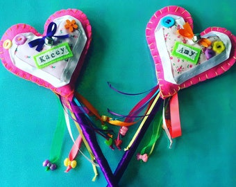 PERSONALISED HEART WAND