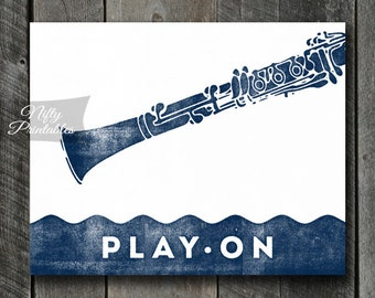 Clarinet Print - INSTANT DOWNLOAD Clarinet Art - Clarinet Poster - Clarinet Wall Art - Clarinet Gifts - Clarinet Music Decor - Music Prints
