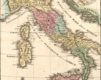 Poster, Many Sizes Available; Map Of Italy During Antiquity 1826