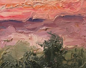 spring sunsets original art oil painting