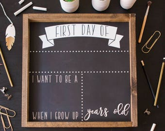First and Last Day School Sign First Day of School Chalkboard First day of school sign Reusable School Chalkboard Back to School Chalkboard