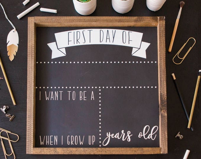Featured listing image: First and Last Day School Sign First Day of School Chalkboard First day of school sign Reusable School Chalkboard Back to School Chalkboard