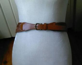 Vintage Braided Brown Belt M / L