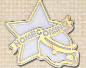 "Homecoming Mum Trinket, 3.5"" WHITE/SILVER Star 12pc pkgs"