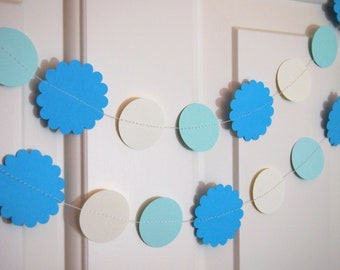 Baby Blue Paper Garlands for Party/Shower Decoration
