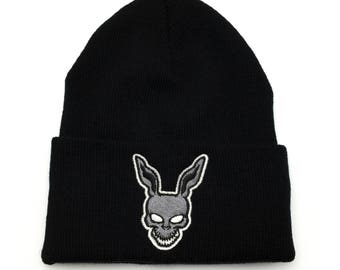 Donnie Darko Frank the Bunny Beanie Hat Horror Apparel Custom Embroidered