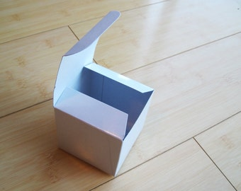 10 - Medium 3 x 3 x 3 WHITE glossy boxes - Perfect for party favors, candy buffets, weddings and so much more
