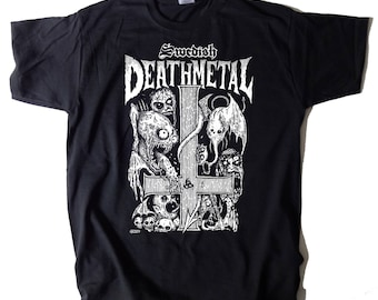 Swedish Death Metal T-SHIRT Sizes S-XXL Entombed Grave Unleashed Dismember