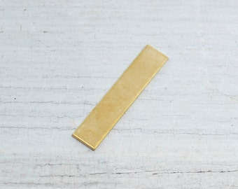 """NuGold Stamping Blanks 1 1/4"""" X 1/4"""" Long Rectangle 18G QTY 5"""