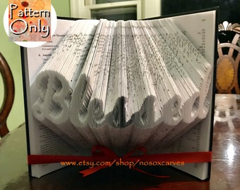 Blessed Folded Book Art Pattern