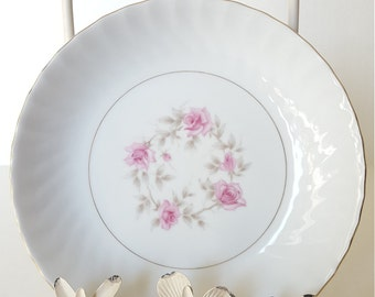 Vintage Virginia-Japan China, 4Pc Set Salad/Soup Bowl, Pink Floral Design, Shabby Chic, Mismatched Dishes, Dinner Party, Luncheon,Tea Party,