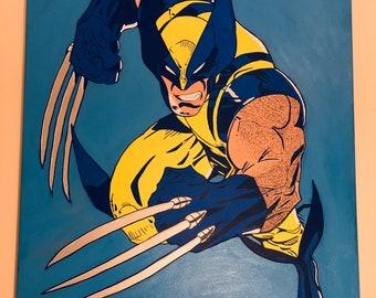 Wolverine acrylic painting 30x40